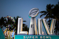 MIAMI, FL - JANUARY 28:  Signage is displayed around FOX Sports South Beach studio compound on January 28, 2020 in Miami, USA. The Super Bowl XLIV will take place in the Hard Rock Stadium in Miami between the teams 49ers vs. Chiefs, and it will be played on Sunday, Feb. 2, 2020. (Photo by Eduardo MunozAlvarez/VIEWpress)