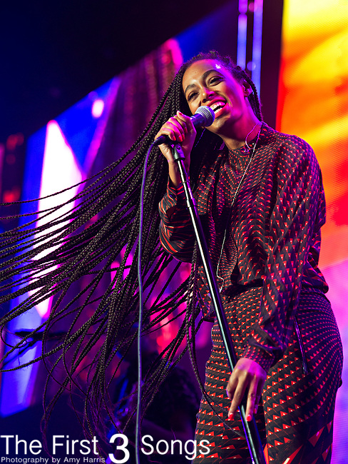 Solange (born Solange Knowles) performs at the 2013 Essence Festival at the Mercedes-Benz Superdome in New Orleans, Louisiana.