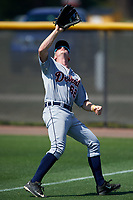 Detroit Tigers Sam Machonis (62) catches a fly ball during a minor league Spring Training game against the New York Yankees on March 22, 2017 at the Yankees Complex in Tampa, Florida.  (Mike Janes/Four Seam Images)
