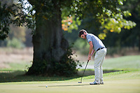 Cormac Sharvin putts for a birdie during the final round of the  Bridgestone Challenge, Luton Hoo Hotel, Bedfordshire, England. 09/09/2018.<br /> Picture  / Golffile.ie<br /> <br /> All photo usage must carry mandatory copyright credit (&copy; Golffile | )