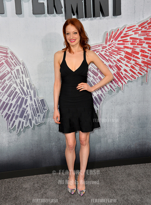 "LOS ANGELES, CA. August 28, 2018: Elizabeth J. Carlisle at the world premiere of ""Peppermint"" at the Regal LA Live."