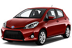 2013, toyota, yaris, le, 5door, hatchback-angular, front, front 3/4
