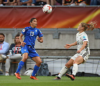 20170721 - TILBURG , NETHERLANDS : German Leonie Maier (R) and Italian Elisa Bartoli (L)  pictured during the female soccer game between Germany and Italy  , the second game in group B at the Women's Euro 2017 , European Championship in The Netherlands 2017 , Friday 21 th June 2017 at Stadion Koning Willem II  in Tilburg , The Netherlands PHOTO SPORTPIX.BE | DIRK VUYLSTEKE