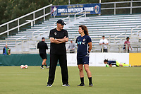 Cary, NC - Saturday April 22, 2017: Bill Palladino, Elizabeth Eddy prior to a regular season National Women's Soccer League (NWSL) match between the North Carolina Courage and the Portland Thorns FC at Sahlen's Stadium at WakeMed Soccer Park.
