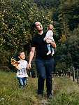Sébastien Bischof et sa famille. Moudon, le 2 septembre 2020. Photos © Guillaume Perret / Lundi13