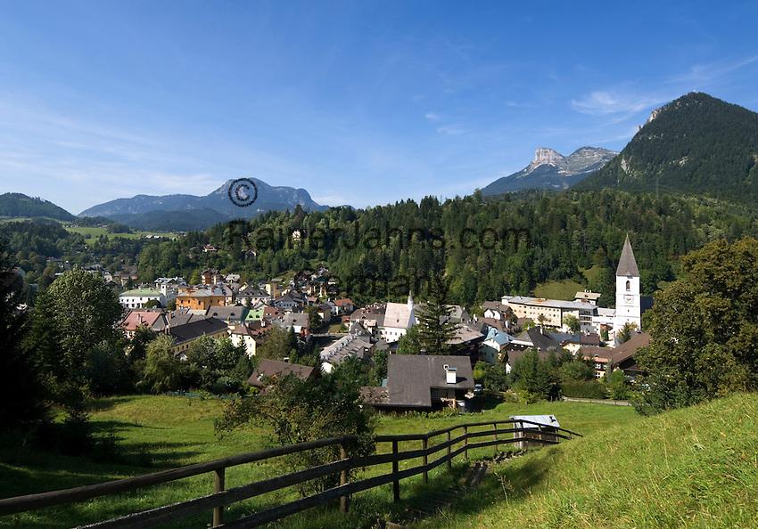 ustria, Styrian Salzkammergut, Bad Aussee: picturesque village at Ausseer Country