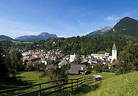ustria, Styrian Salzkammergut, Bad Aussee: picturesque village at Ausseer Country