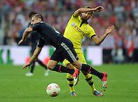 FUSSBALL   1. BUNDESLIGA   SAISON 2012/2013   SUPERCUP FC Bayern Muenchen - Borussia Dortmund            12.08.2012 Franck Ribery (li, FC Bayern Muenchen)  gegen Moritz Leitner (Borussia Dortmund)