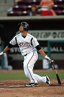 September 6 2009:  Keoni Ruth of the Lake Elsinore Storm during game against the San Jose Giants at The Diamond in Lake Elsinore,CA.  Photo by Larry Goren/Four Seam Images