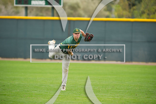 Wyatt Walorinta (15) of PACIFICA High School in Camarillo, California during the Under Armour All-American Pre-Season Tournament presented by Baseball Factory on January 15, 2017 at Sloan Park in Mesa, Arizona.  (Zac Lucy/Mike Janes Photography)