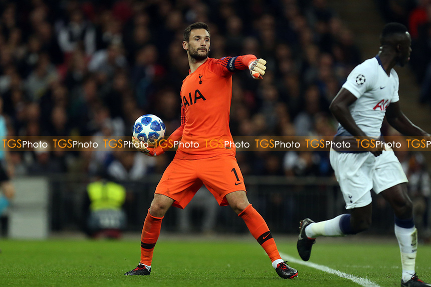 Hugo Lloris of Tottenham Hotspur during Tottenham Hotspur vs FC Barcelona, UEFA Champions League Football at Wembley Stadium on 3rd October 2018