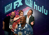 SAN DIEGO COMIC-CON© 2019:  L-R: 20th Century Fox Television's AMERICAN DAD Producer Matt Weitzman, Cast Members Rachael MacFarlane, Kevin Michael Richardson and Dee Bradley Baker during the AMERICAN DAD booth signing on Saturday, July 20 at the SAN DIEGO COMIC-CON© 2019. CR: Alan Hess/20th Century Fox Television