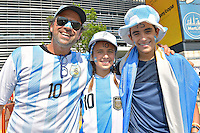 Photo before the match Argentina vs Chile corresponding to the Final of America Cup Centenary 2016, at MetLife Stadium.<br /> <br /> Foto previo al partido Argentina vs Chile cprresponidente a la Final de la Copa America Centenario USA 2016 en el Estadio MetLife , en la foto:Fans de Argentina<br /> <br /> 26/06/2016/MEXSPORT/Isaac Ortiz.