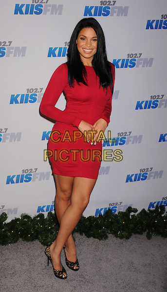 Jordin Sparks.The KIIS FM's Jingle Ball 2012 held at Nokia Theatre L.A. Live in Los Angeles, California, USA..December 3rd, 2012.full length red dress .CAP/ROT/TM.©Tony Michaels/Roth Stock/Capital Pictures