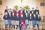 CONFIRMATION: The pupils from Brosna and Knockaclatrig N Schools who were Confirmed on Monday in Knockaclarig Church by the Bioshop of Kerry Bill Murphy, Front l-r: Melanie O'Connor, Joseph Brosnan, Michelle O'Mahony, Michelle Greaney, Elma Roache, R,o?isi?n langan Browne, Adam Tees and Leah Downey. Middle row l-r: Timmy Finnegan, Claire O'Shea, Innis Daly, Killian Fitzmaurice, Kieran O'Donnell, Christopher Cronin, Eoin Relihan and TJ Browne. Back row l-r: Chriostopher Browne, Joanne Brosnan, Mary Curtin, Patrick Collins, Ben Innes, Claire Connelly, Cillian Keane and Eamon Prendiville...