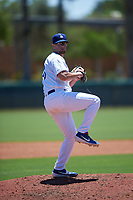 AZL Dodgers Lasorda relief pitcher Jeff Belge (48) during an Arizona League game against the AZL Royals on July 4, 2019 at Camelback Ranch in Glendale, Arizona. The AZL Royals defeated the AZL Dodgers Lasorda 4-1. (Zachary Lucy/Four Seam Images)