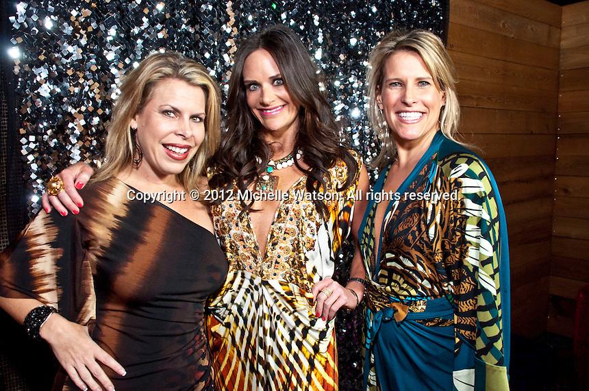 Marcy de Luna, Laura Greenberg and Mauney Mafrige celebrate their birthdays at Hudson Lounge
