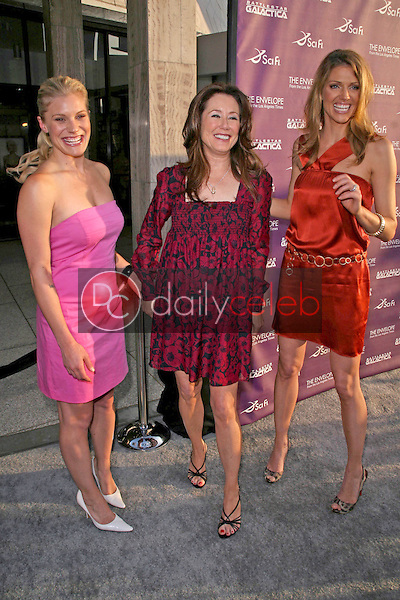 Katee Sackhoff with Mary McDonnell and Tricia Helfer<br />
