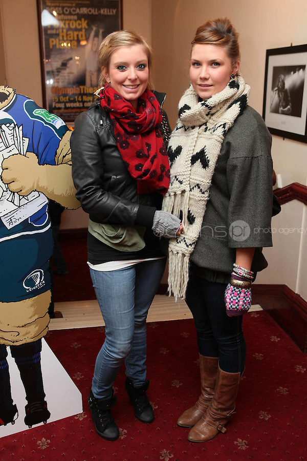 NO FFE. 19/10/2010. Ross O'Carroll Kelly play Between Foxrock and A Hard Place. Ann Haliday and Helen Mc Dermott are pictured at the Olympia Theatre for the opening night of the new Ross O'Carroll Kelly new play Between Foxrock and A Hard Place. Picture James Horan/Collins