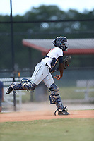 KeiJhuan James (57) of O'Fallon Township High School in Swansea, Illinois during the Under Armour Baseball Factory National Showcase, Florida, presented by Baseball Factory on June 13, 2018 the Joe DiMaggio Sports Complex in Clearwater, Florida.  (Nathan Ray/Four Seam Images)