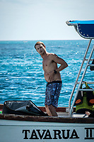 Namotu Island Resort, Nadi, Fiji (Monday, May 15 2017): Alex Gray (USA) - The wind  this morning was still from the South with high tide around 10 am. A small crew did an early morning run to Cloudbreak before the tide got too high.  The swell  was still in the 3' range with a side onshore breeze. The faces of the of the inside waves were still clean and the crowd factor was low. Other guests  surfed Lefts, Swimming Pools and Wilkes around the tides. <br /> Photo: joliphotos.com