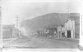 Inscription: &quot;First St. looking south.  Durango, Colo. D&amp;R.G. R.R. No. 500&quot;<br /> D&amp;RG  Durango, CO