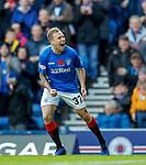 11.11.2018 Rangers v Motherwell: Scott Arfield celebrates his opening goal