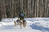 Musher Sophia Daniels, 2007 Limited North American Championship Sled dog race in Fairbanks, Alaska.