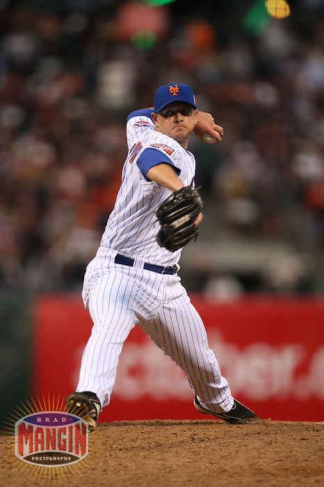 SAN FRANCISCO - JULY 10:  Billy Wagner of the New York Mets and National League in action during the All Star Game against the American League at AT&T Park in San Francisco, California on July 10, 2007.  Photo by Brad Mangin