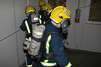 Firefighters wearing BA training with Guide lines. This image may only be used to portray the subject in a positive manner..©shoutpictures.com..john@shoutpictures.com