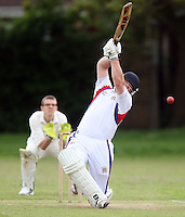 P Humphries of Hornchurch Athletic in batting action - Hornchurch Athletic CC vs Galleywood CC, Essex Club Cricket at Hylands Park, Hornchurch - 18/05/13 - MANDATORY CREDIT: Rob Newell/TGSPHOTO - Self billing applies where appropriate - 0845 094 6026 - contact@tgsphoto.co.uk - NO UNPAID USE