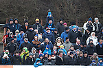 Rangers and Peterhead fans together in the home end