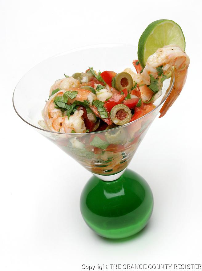 Shrimp and Olive Cocktail. Portfolio only