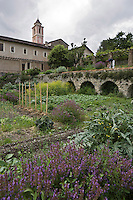Europe/France/Provence-Alpes-Côtes d'Azur/06/Alpes-Maritimes/Alpes-Maritimes/Arrière Pays Niçois/Saorge: Jardin du   Couvent des Franciscains