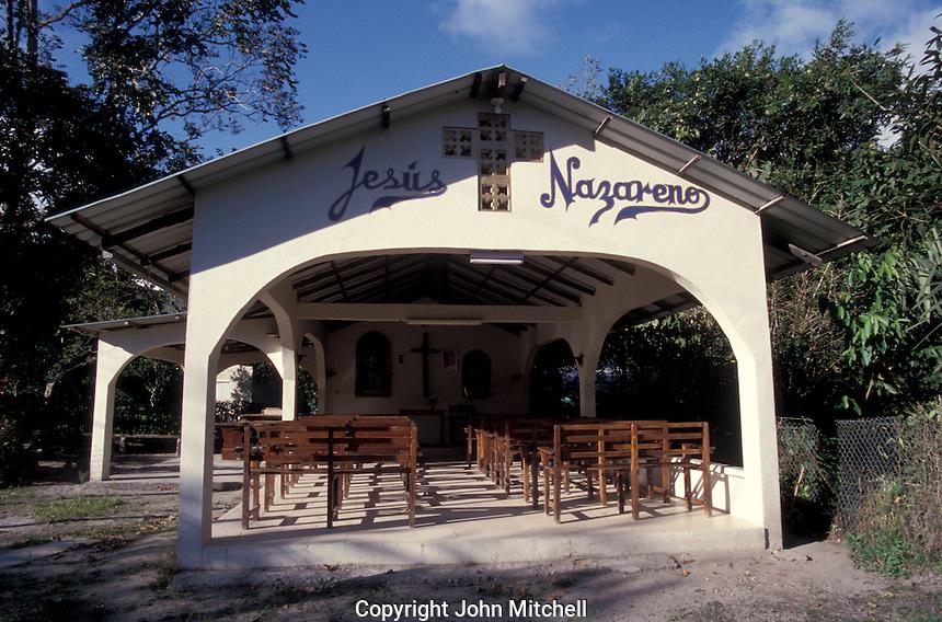 An open-air evangelical Protestant church in El Valle de Anton, Panama