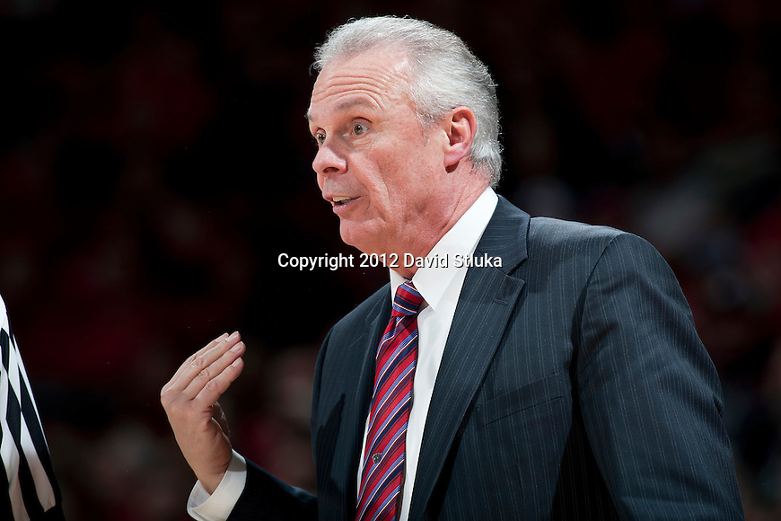 Wisconsin Badgers Head Coach Bo Ryan during a Big Ten Conference NCAA college basketball game against the Illinois Fighting Illini on Sunday, March 4, 2012 in Madison, Wisconsin. The Badgers won 70-56. (Photo by David Stluka)