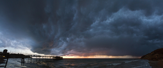 Stormy skies over Totland Bay.<br />