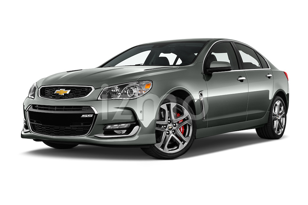 Stock pictures of low aggressive front three quarter view of 2016 Chevrolet SS 6.2 4 Door Sedan Low Aggressive