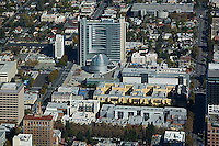 aerial photograph City Hall, San Jose, Santa Clara county, California, Richard Meier & Partners, architects
