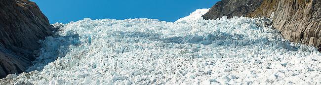 Fox Glacier icefall, Westland Tai Poutini National Park, West Coast, UNESCO World Heritage Area, New Zealand, NZ