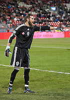 21 November 2010: Colorado Rapids goalkeeper Matt Pickens #18 in action during the 2010 MLS CUP between the Colorado Rapids and FC Dallas at BMO Field in Toronto, Ontario Canada..The Colorado Rapids won 2-1 in extra time....