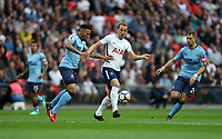 Tottenham Hotspur's Harry Kane and Newcastle United's Jamaal Lascelles<br /> <br /> Photographer Rob Newell/CameraSport<br /> <br /> The Premier League - Tottenham Hotspur v Newcastle United - Wednesday 9th May 2018 - Wembley Stadium - London<br /> <br /> World Copyright &copy; 2018 CameraSport. All rights reserved. 43 Linden Ave. Countesthorpe. Leicester. England. LE8 5PG - Tel: +44 (0) 116 277 4147 - admin@camerasport.com - www.camerasport.com