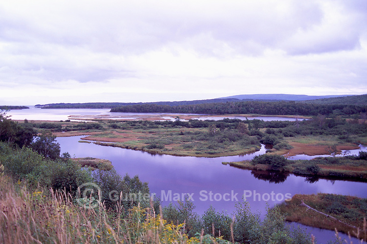 "Marshland at ""North Harbour"" , Cape Breton Island, Nova Scotia, NS, Canada"