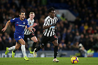 Christian Atsu of Newcastle United in action during Chelsea vs Newcastle United, Premier League Football at Stamford Bridge on 12th January 201