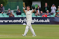 Joe Clarke of Worcestershire acknowledges the crowd after reaching his century during Worcestershire CCC vs Essex CCC, Specsavers County Championship Division 1 Cricket at Blackfinch New Road on 12th May 2018
