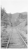 D&amp;RGW track running through rock cut north of Rockwood leading to the &quot;High Line.&quot;<br /> D&amp;RGW  Rockwood, CO