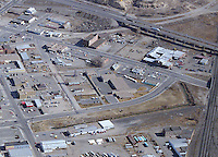 Aerial of Santa Fe Ave. Pueblo, March 1984.