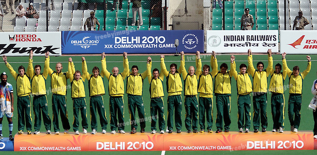 Commonwealth Games Delhi 14-10-2010.Mens Gold Medal.Australia v India.credit: Grant Treeby Images..Editorial use only (No Archiving) Unless previously arranged