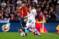 Spain's Marco Asensio and Norway's Omar Elabdellaoui  during the qualifying match for Euro 2020 on 23th March, 2019 in Valencia, Spain. (ALTERPHOTOS/Alconada)<br /> Valencia 23-03-2019 <br /> Football Qualifying match Euro2020<br /> Spain Vs Norway <br /> foto Alterphotos/Insidefoto <br /> ITALY ONLY