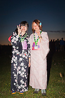 2 Girls from Japan in their traditional clothes after the IST Opening Ceremony